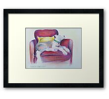 The Comfy Chair Framed Print