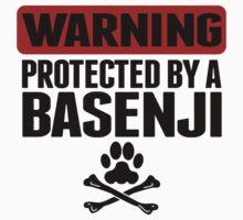 Warning Protected By A Basenji Baby Tee