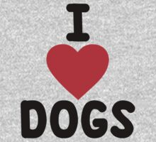 I heart dogs Kids Clothes