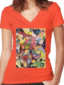 Controlled  Chaos Women's Fitted V-Neck T-Shirt