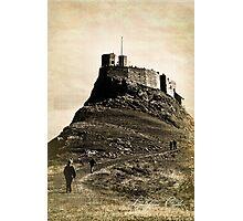 Vintage Lindisfarne Castle. Photographic Print