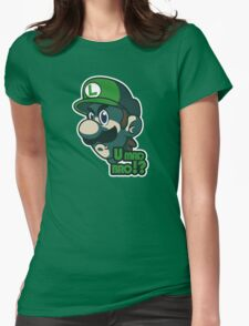U mad bro!? Luigi Womens Fitted T-Shirt