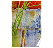 Stems on Abstract Poster