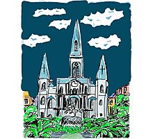 St Louis Cathedral Graphic Illustration Photographic Print