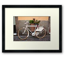 Retro Bicycle in Italy Framed Print