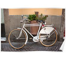 Retro Bicycle in Italy Poster