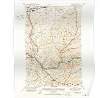 USGS Topo Map Washington State WA Starbuck 244006 1950 62500 Poster