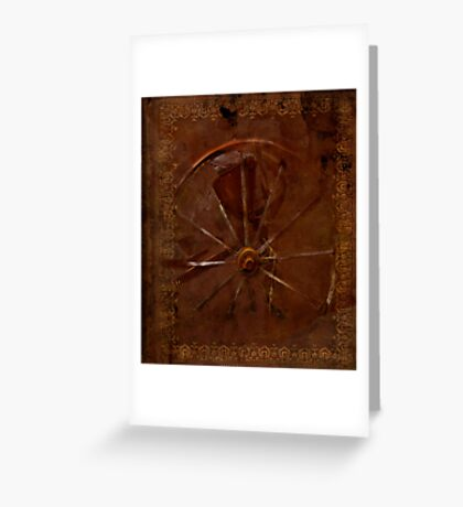 old wheel book Greeting Card