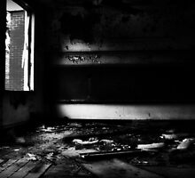 abandoned classroom (B&W) by ShellyKay