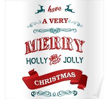We Wish A Merry Christmas Poster