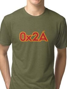 The Answer in Hexadecimal Tri-blend T-Shirt
