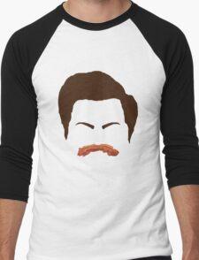 Ron Swanson Bacon Mustache  Men's Baseball ¾ T-Shirt