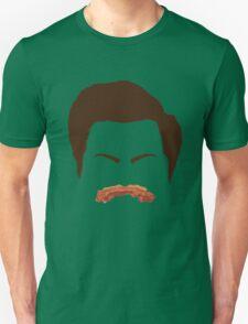 Ron Swanson Bacon Mustache  Unisex T-Shirt