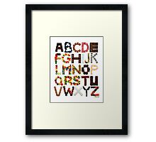 Candy Alphabet Framed Print