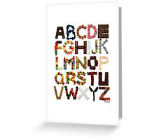 Candy Alphabet Greeting Card