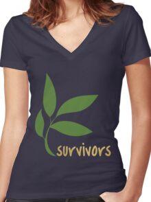 TK Alum Survivors Women's Fitted V-Neck T-Shirt