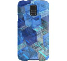Boxes of Blue Samsung Galaxy Case/Skin