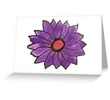Purple water color flower Greeting Card