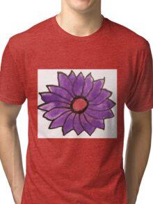 Purple water color flower Tri-blend T-Shirt