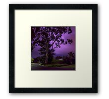 Purple tree Lightning flash 01 Framed Print