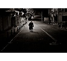 Lone Walk Into The Night Photographic Print