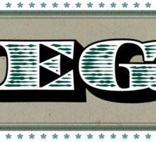 Megatrip - Dolla Dolla Bill (color) Sticker