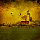 Vintage Coquille River Lighthouse by Diane Schuster