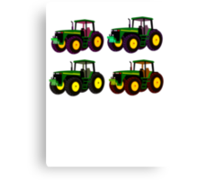 4 tractor fun Canvas Print