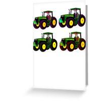 4 tractor fun Greeting Card