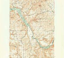 USGS Topo Map Washington State WA Turtle Lake 244369 1950 62500 by wetdryvac