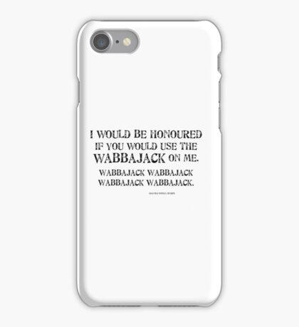 Wabbajack 1 Black for high necked iPhone Case/Skin
