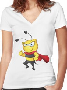 Super Bee - Thumbs Up Women's Fitted V-Neck T-Shirt