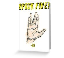 Spock Five! Greeting Card