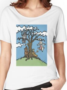 Teddy Bear And Bunny - Their Special Tree Women's Relaxed Fit T-Shirt