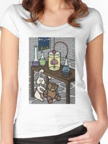 Teddy Bear and Bunny - The Rescue Came Too Late Women's Fitted Scoop T-Shirt