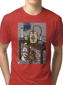 Teddy Bear and Bunny - The Rescue Came Too Late Tri-blend T-Shirt