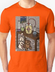 Teddy Bear and Bunny - The Rescue Came Too Late Unisex T-Shirt