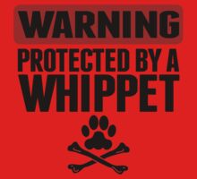Warning Protected By A Whippet Kids Tee