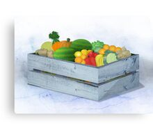 Home-grown produce Canvas Print