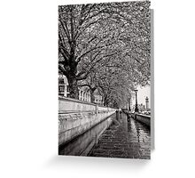 A stroll by the Thames - Great Britain Greeting Card