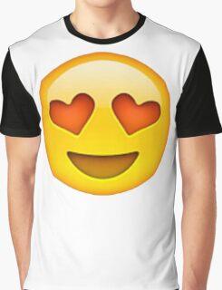 Heart Eye Emoji Graphic T-Shirt