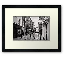 An afternoon shopping in London - Britain Framed Print