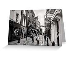 An afternoon shopping in London - Britain Greeting Card