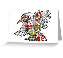 The Swans Victory  Greeting Card