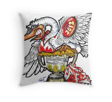 The Swans Victory  Throw Pillow