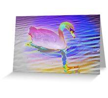 Swan mirror in pastels Greeting Card