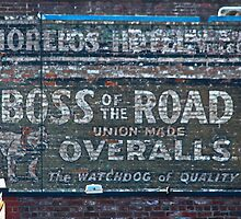Ghost Sign: Boss of the Road, Sacramento by Martha Sherman