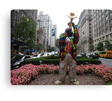 Louis Armstrong Statue, Park Avenue, New York, Niki de Saint Phalle, Artist Canvas Print