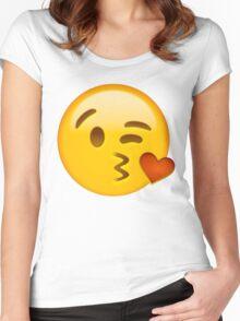 Kiss heart emoji Women's Fitted Scoop T-Shirt