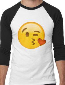Kiss heart emoji Men's Baseball ¾ T-Shirt